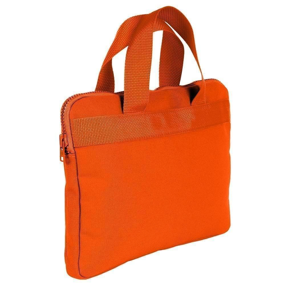 USA Made Nylon Poly Business Cases, Orange-Orange, DJAV319PX0