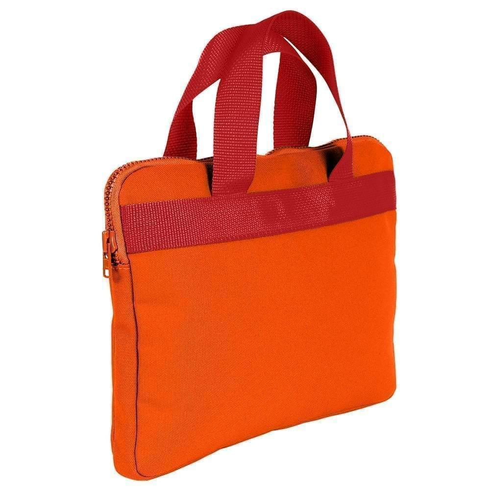 USA Made Nylon Poly Business Cases, Orange-Red, DJAV319PX2