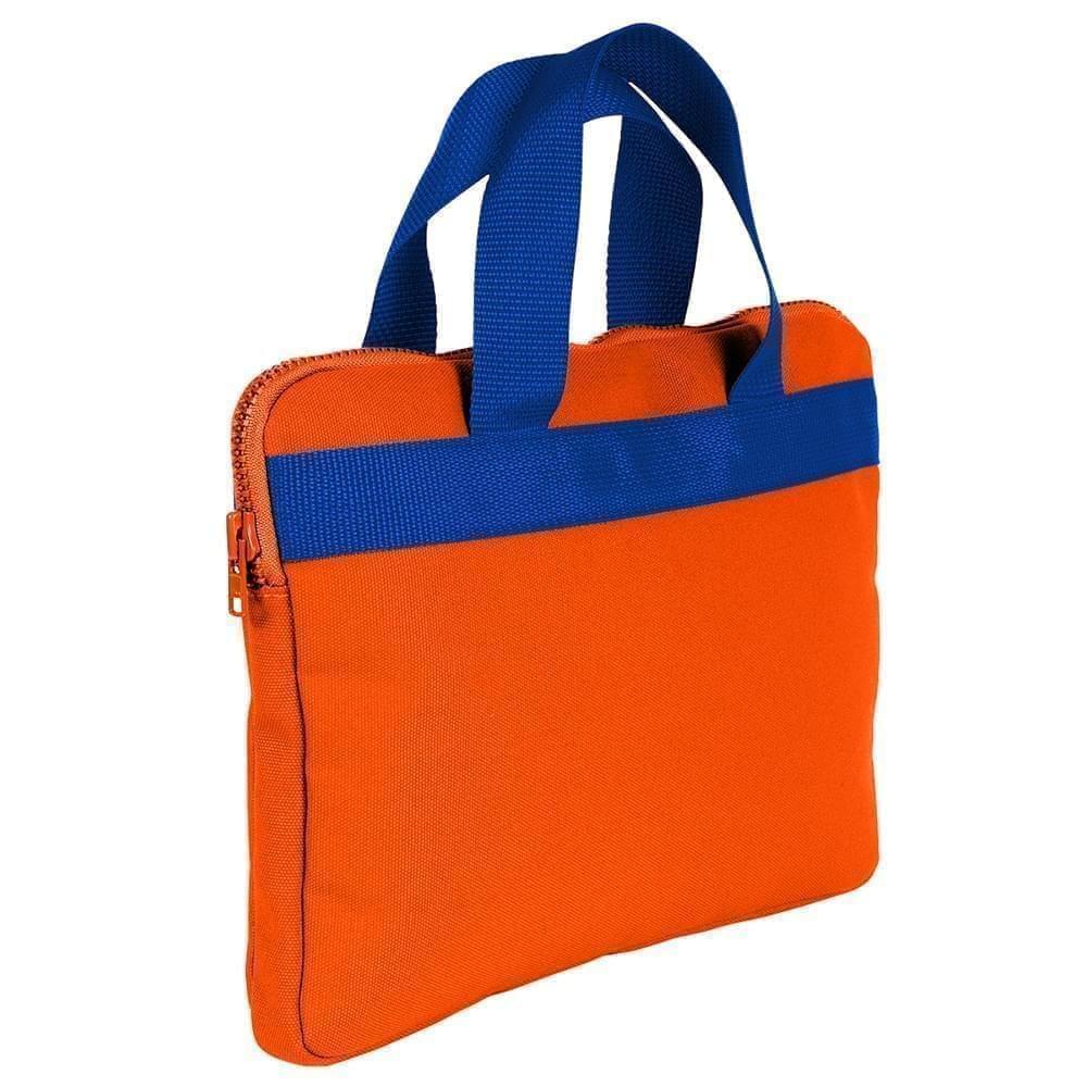 USA Made Nylon Poly Business Cases, Orange-Royal Blue, DJAV319PX3