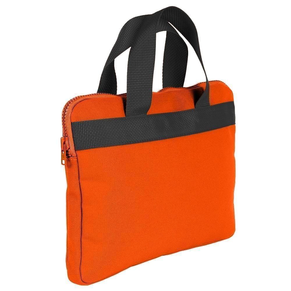 USA Made Nylon Poly Business Cases, Orange-Black, DJAV319PXR