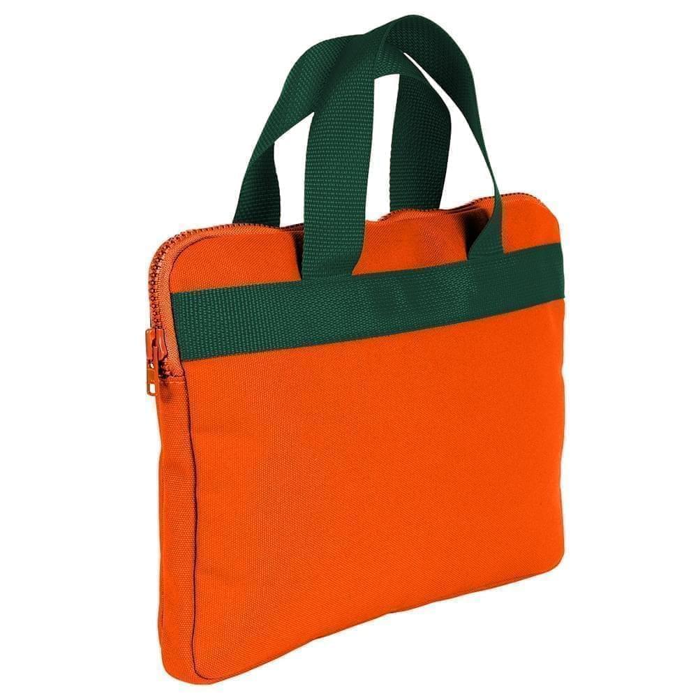 USA Made Nylon Poly Business Cases, Orange-Hunter Green, DJAV319PXV