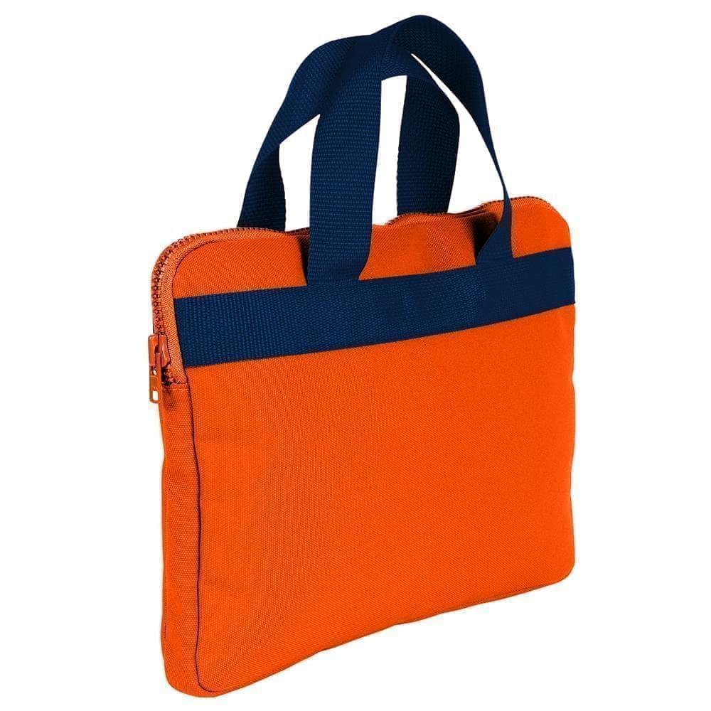 USA Made Nylon Poly Business Cases, Orange-Navy, DJAV319PXZ
