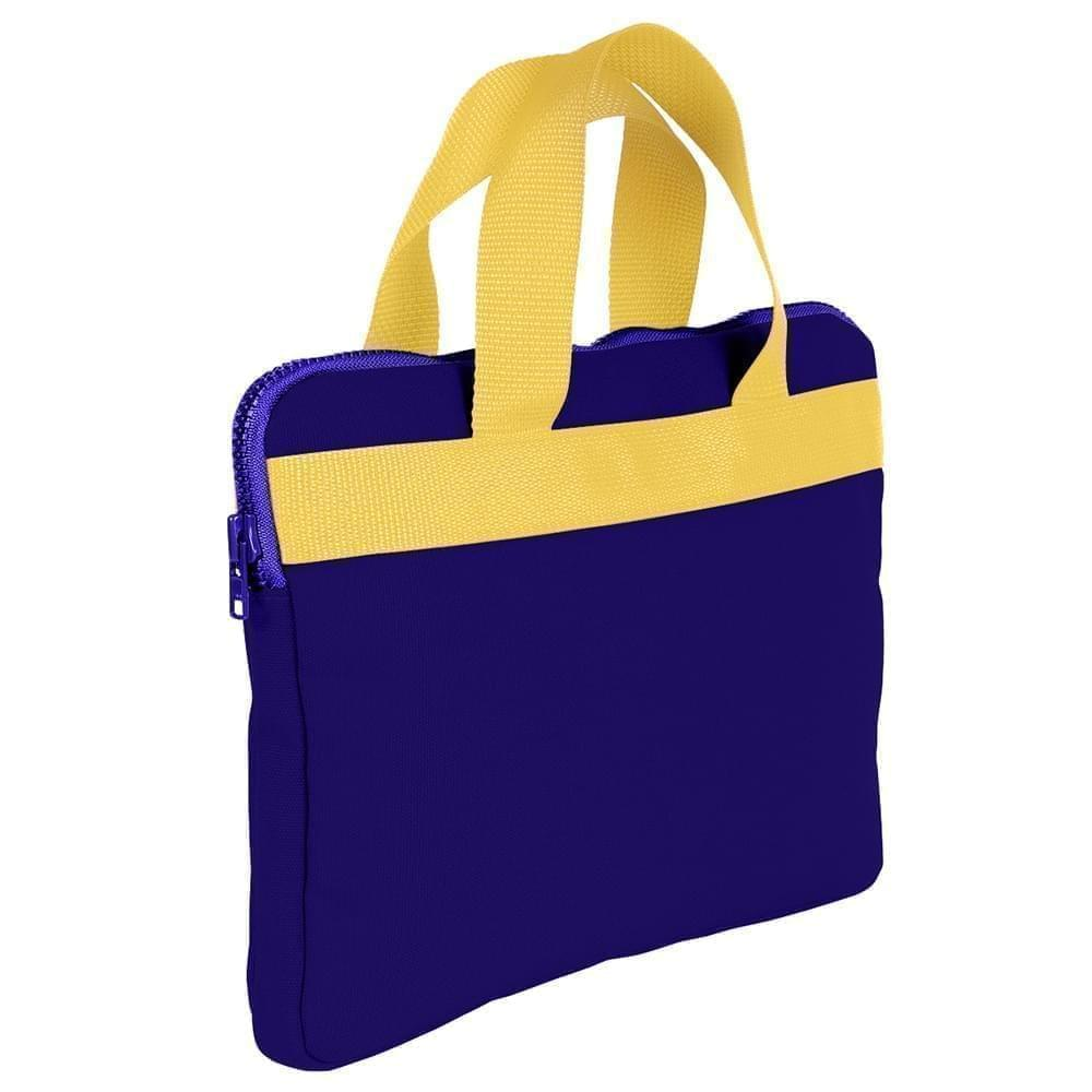 USA Made Nylon Poly Business Cases, Purple-Gold, DJAV319PY5