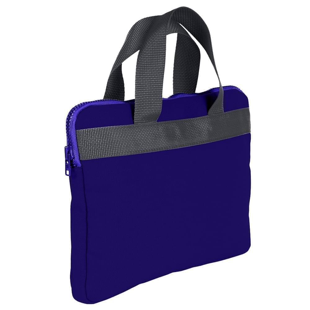 USA Made Nylon Poly Business Cases, Purple-Graphite, DJAV319PYT
