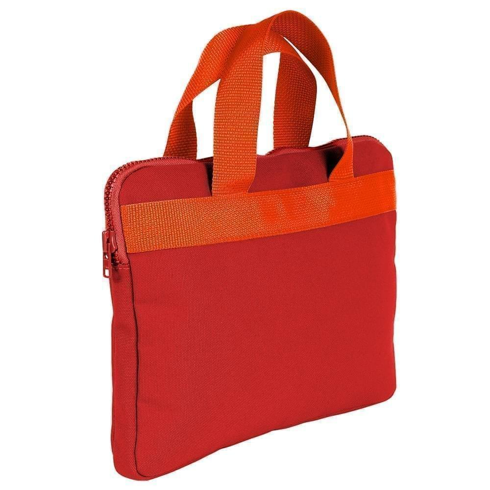 USA Made Nylon Poly Business Cases, Red-Orange, DJAV319PZ0