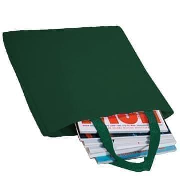 USA Made Poly Market Shopping Tote Bags, Hunter Green-Hunter Green, ISAD317ASV