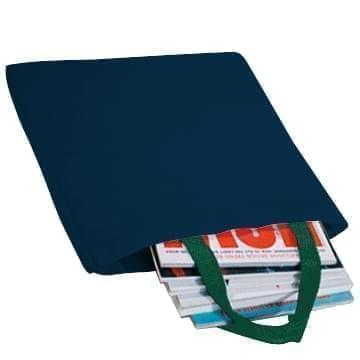 USA Made Poly Market Shopping Tote Bags, Navy-Hunter Green, ISAD317AWV