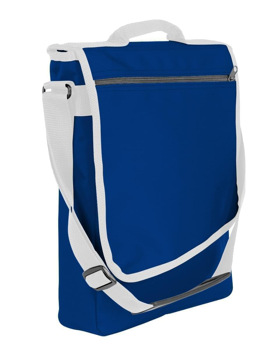 USA Made Nylon Poly Laptop Bags, Royal Blue-White, LHCBA29A04