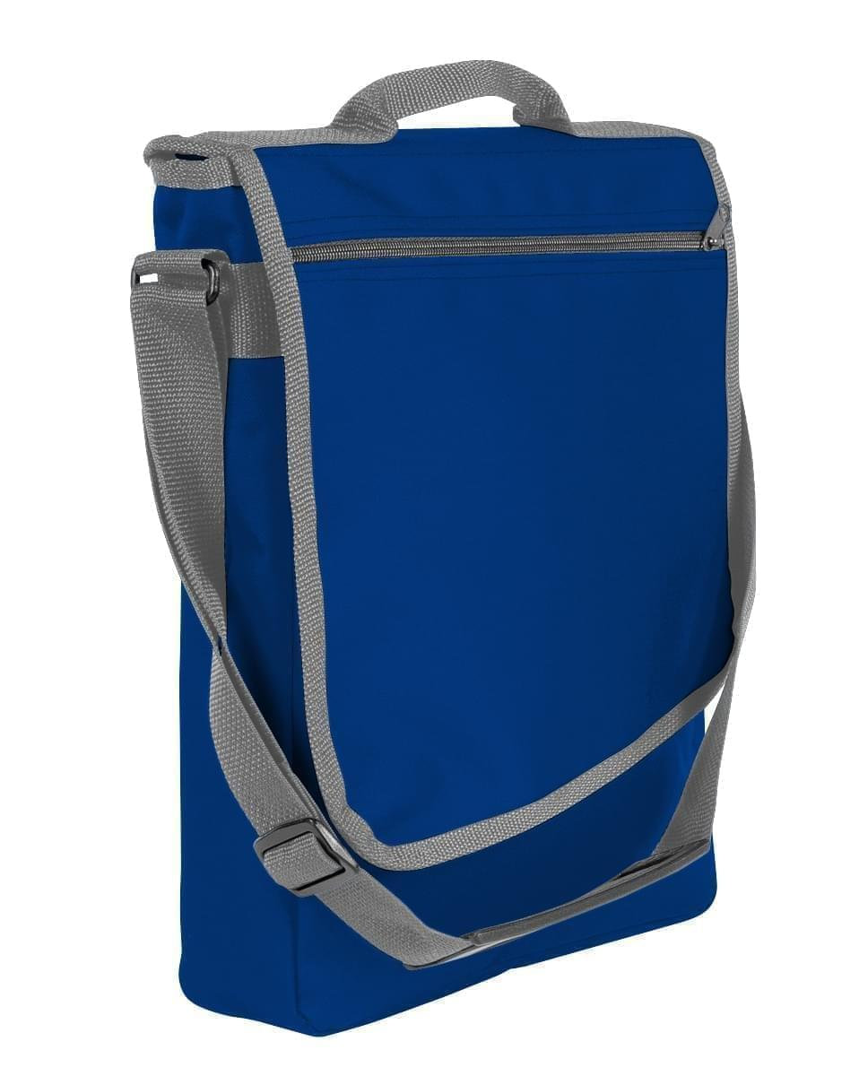 USA Made Nylon Poly Laptop Bags, Royal Blue-Graphite, LHCBA29A0T