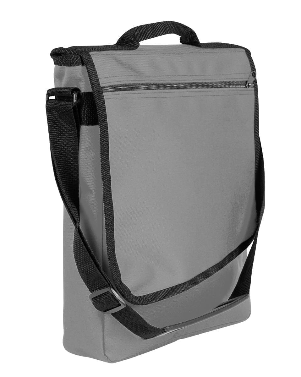 USA Made Nylon Poly Laptop Bags, Grey-Black, LHCBA29A1R