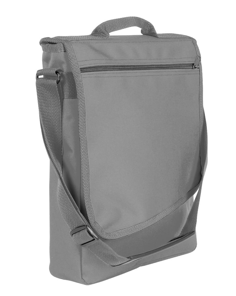 USA Made Nylon Poly Laptop Bags, Grey-Graphite, LHCBA29A1T