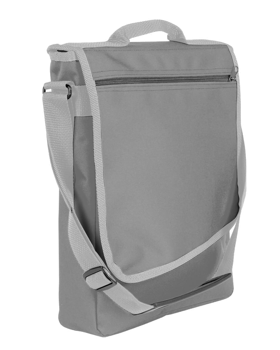 USA Made Nylon Poly Laptop Bags, Grey-Grey, LHCBA29A1U