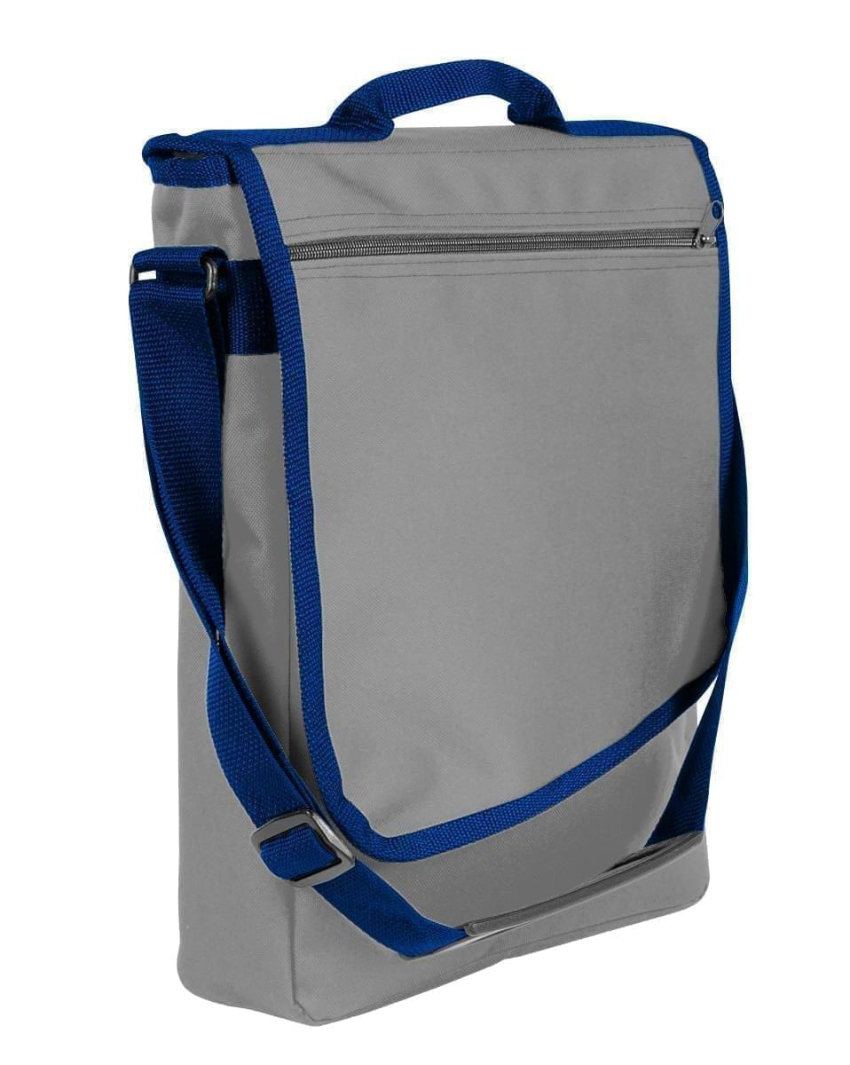 USA Made Nylon Poly Laptop Bags, Grey-Navy, LHCBA29A1Z