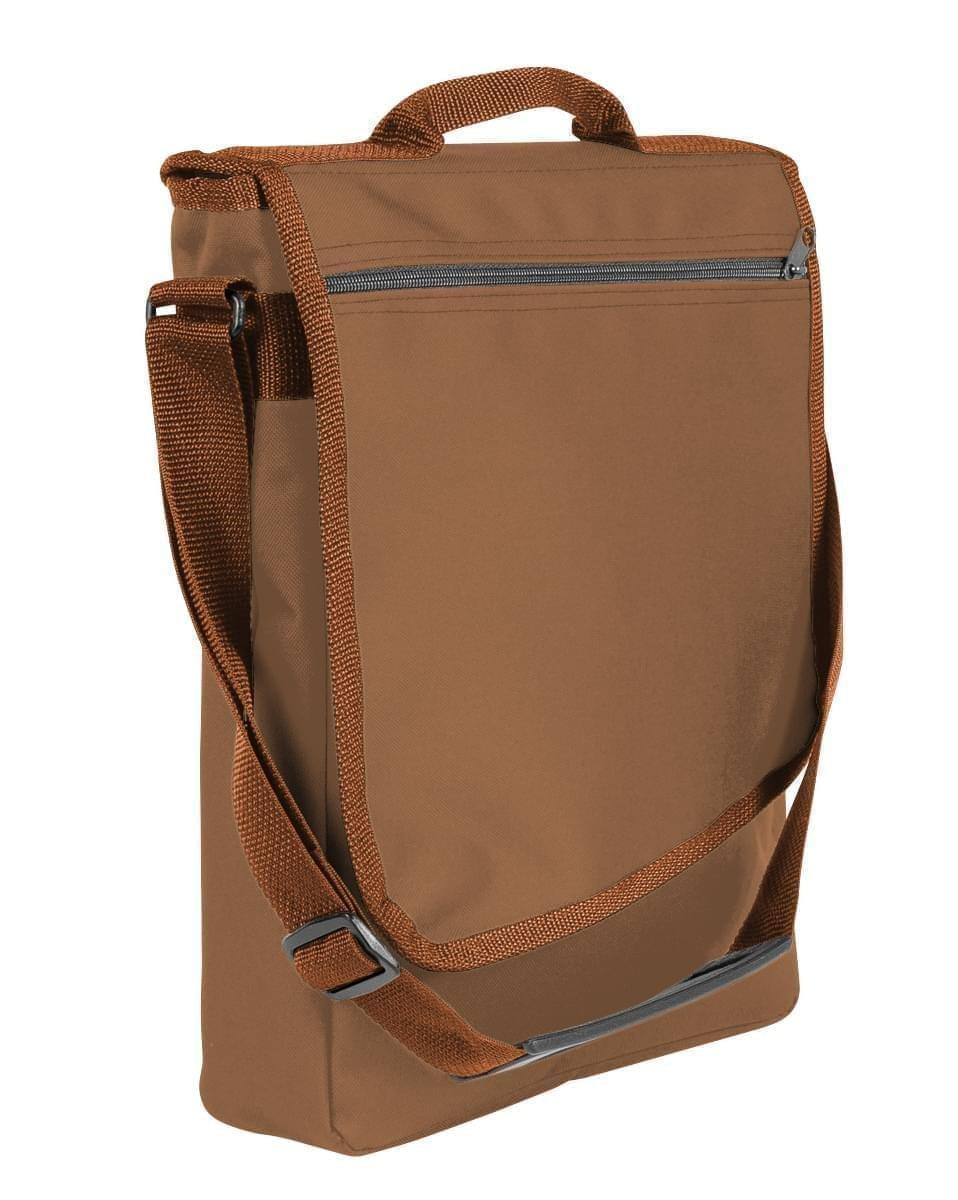 USA Made Nylon Poly Laptop Bags, Khaki-Brown, LHCBA29A2S