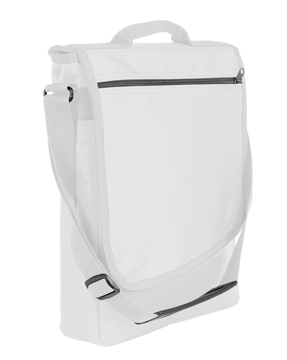 USA Made Nylon Poly Laptop Bags, White-White, LHCBA29A34