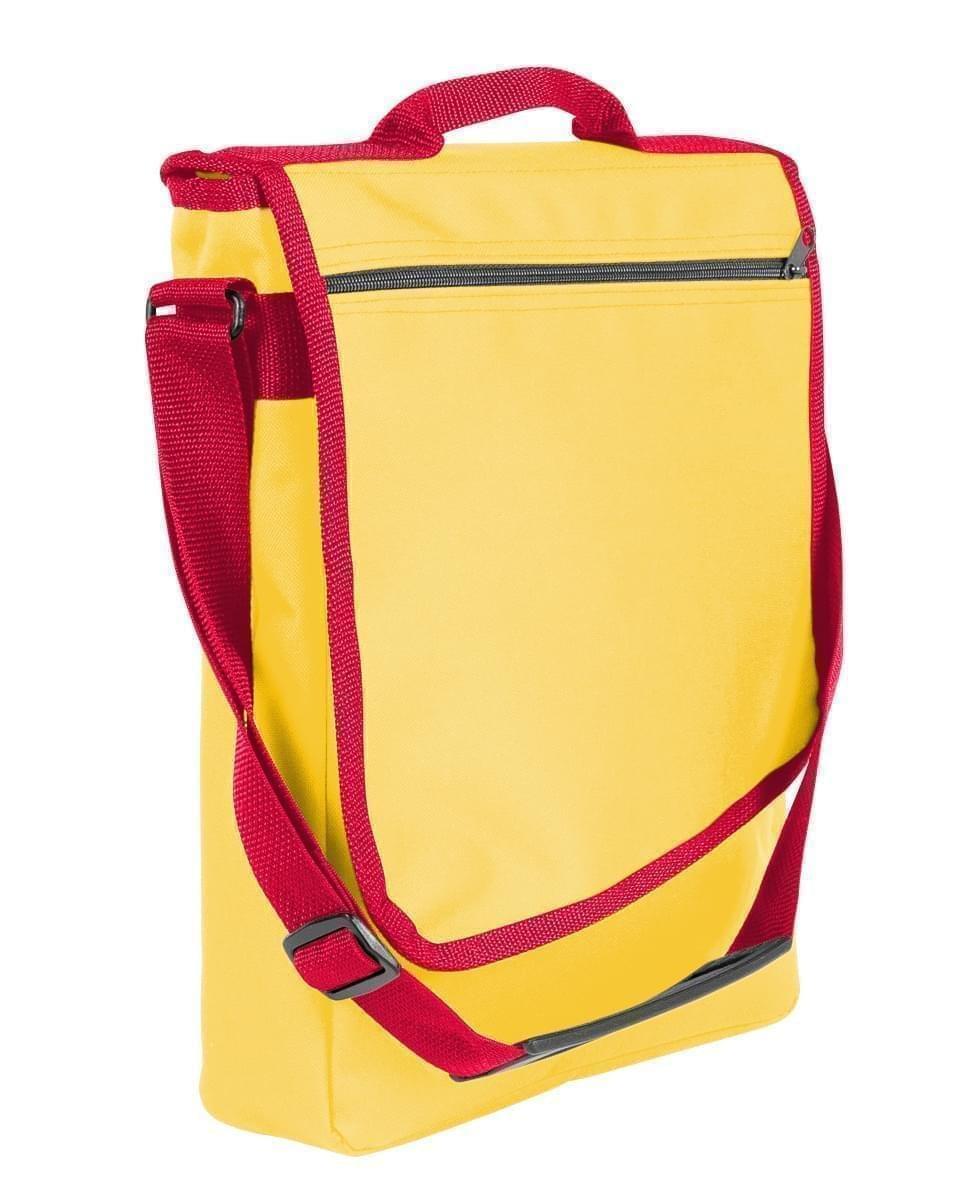 USA Made Nylon Poly Laptop Bags, Gold-Red, LHCBA29A42