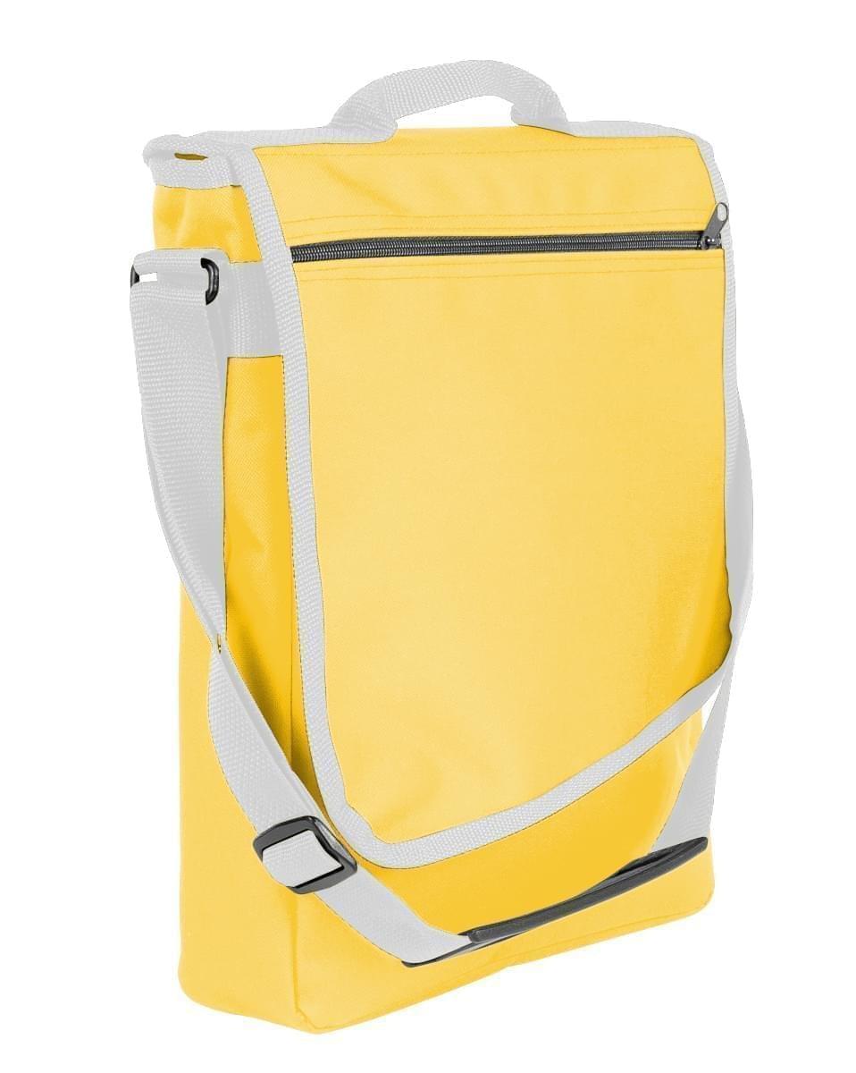 USA Made Nylon Poly Laptop Bags, Gold-White, LHCBA29A44