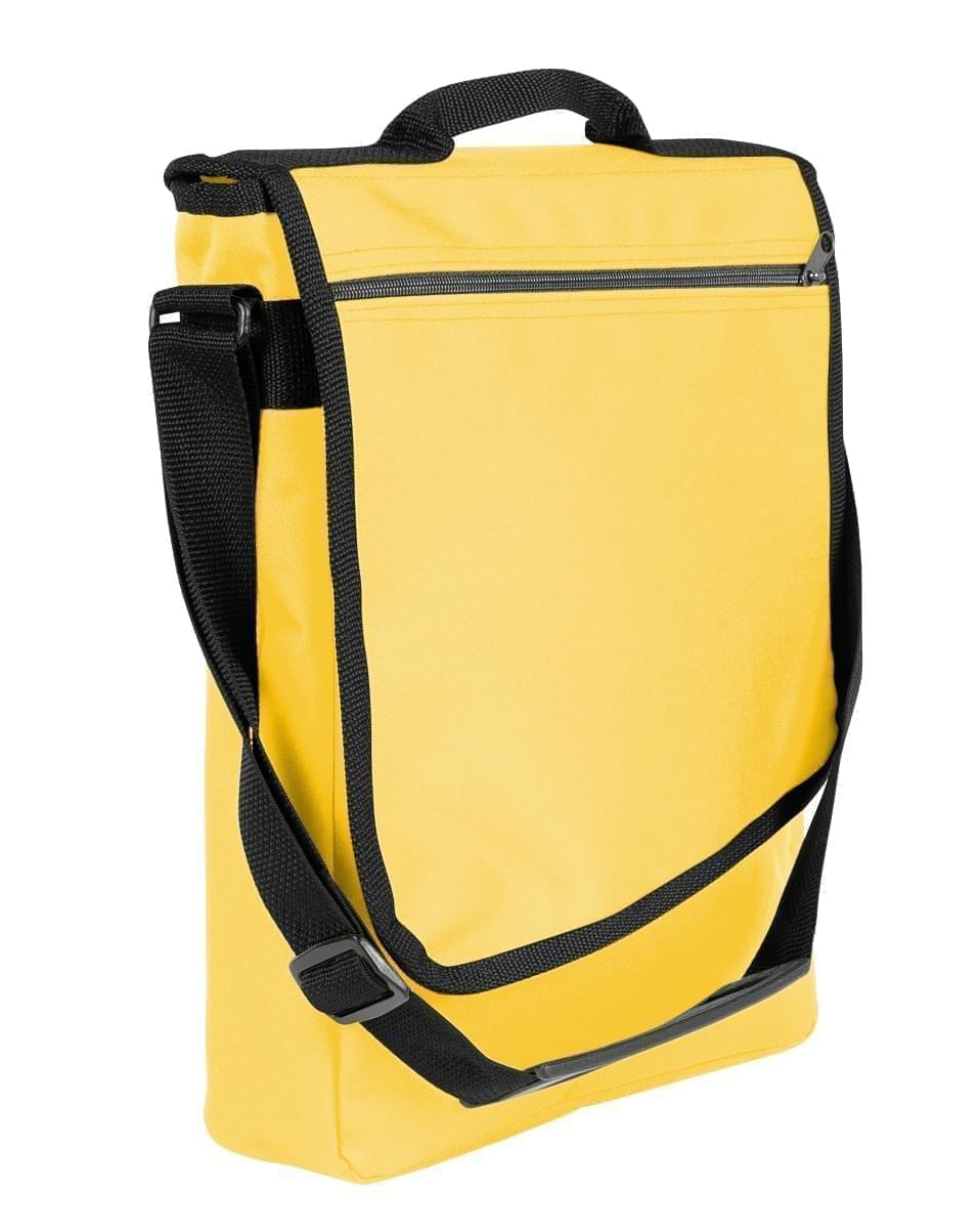 USA Made Nylon Poly Laptop Bags, Gold-Black, LHCBA29A4R