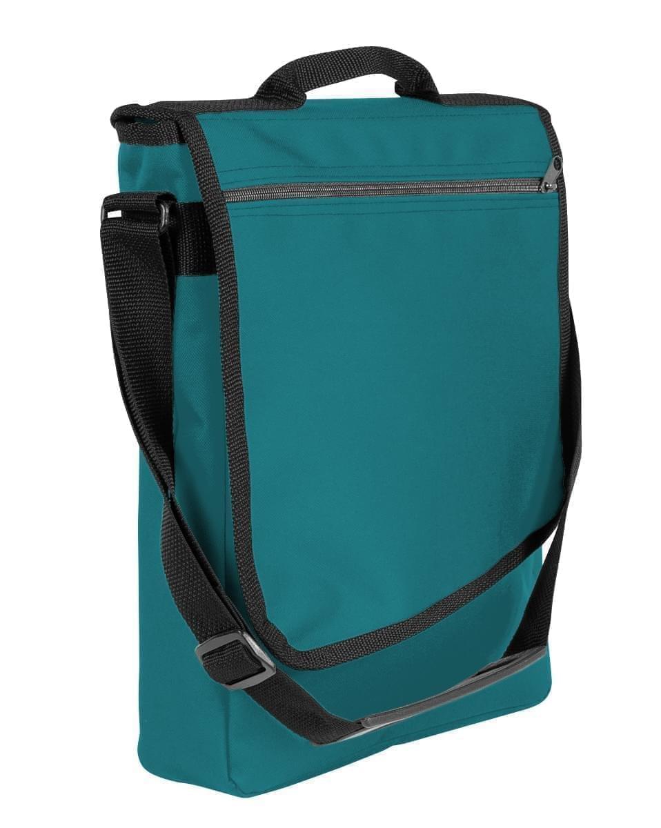 USA Made Nylon Poly Laptop Bags, Turquoise-Black, LHCBA29A9R