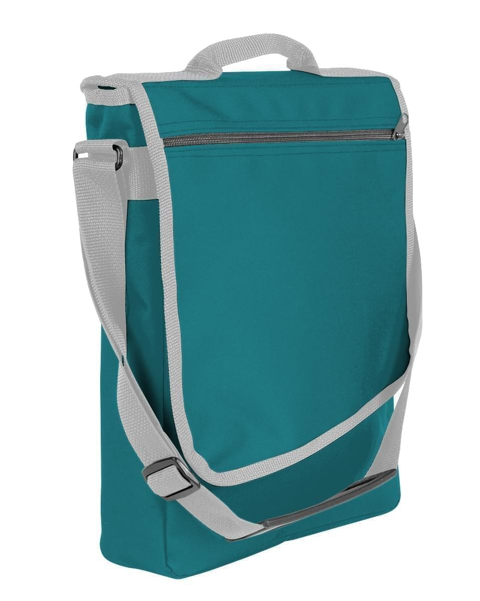 USA Made Nylon Poly Laptop Bags, Turquoise-Grey, LHCBA29A9U