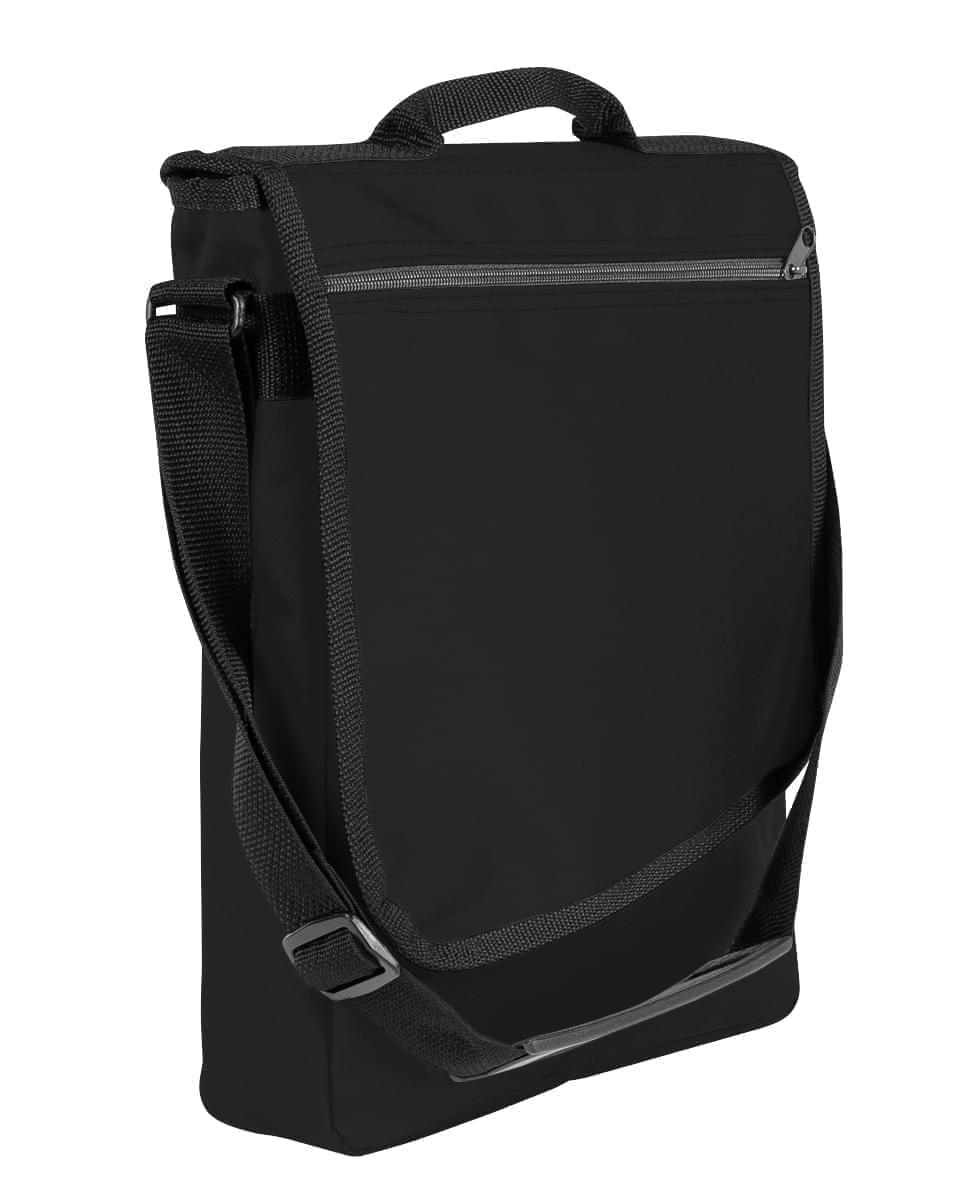 USA Made Nylon Poly Laptop Bags, Black-Black, LHCBA29AOR
