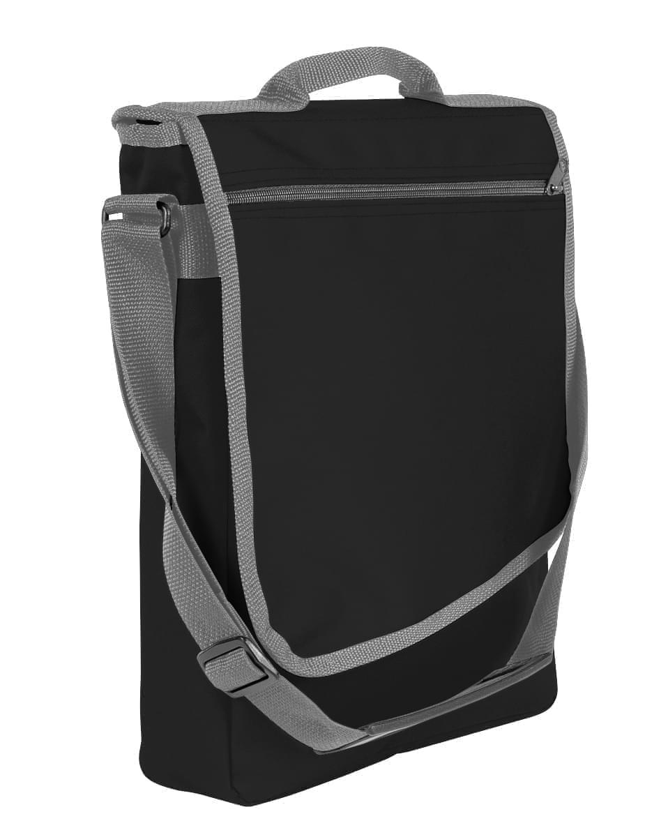 USA Made Nylon Poly Laptop Bags, Black-Graphite, LHCBA29AOT