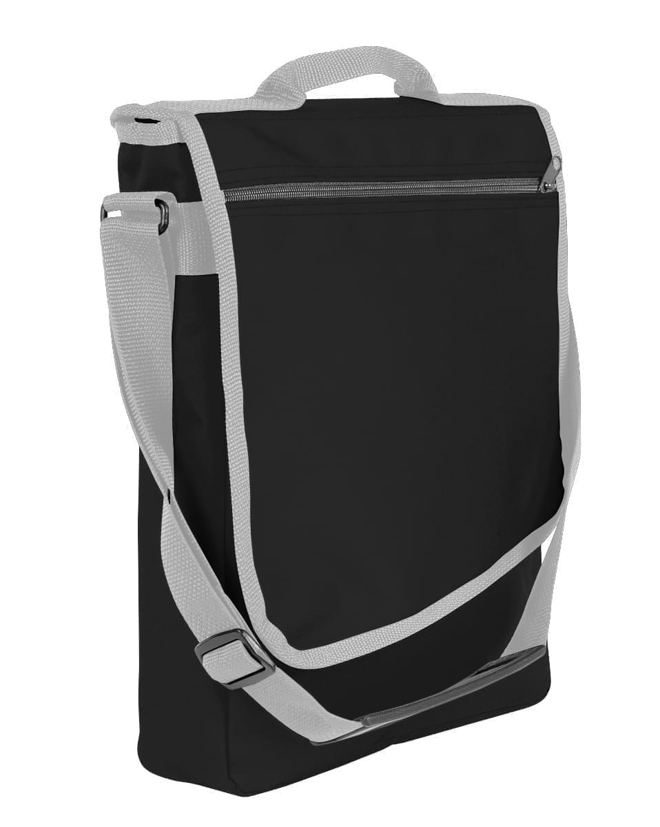 USA Made Nylon Poly Laptop Bags, Black-Grey, LHCBA29AOU