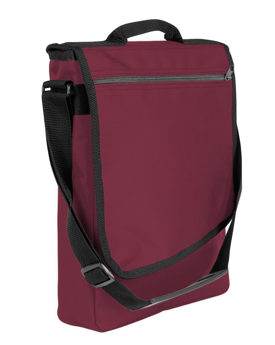 USA Made Nylon Poly Laptop Bags, Burgundy-Black, LHCBA29AQR