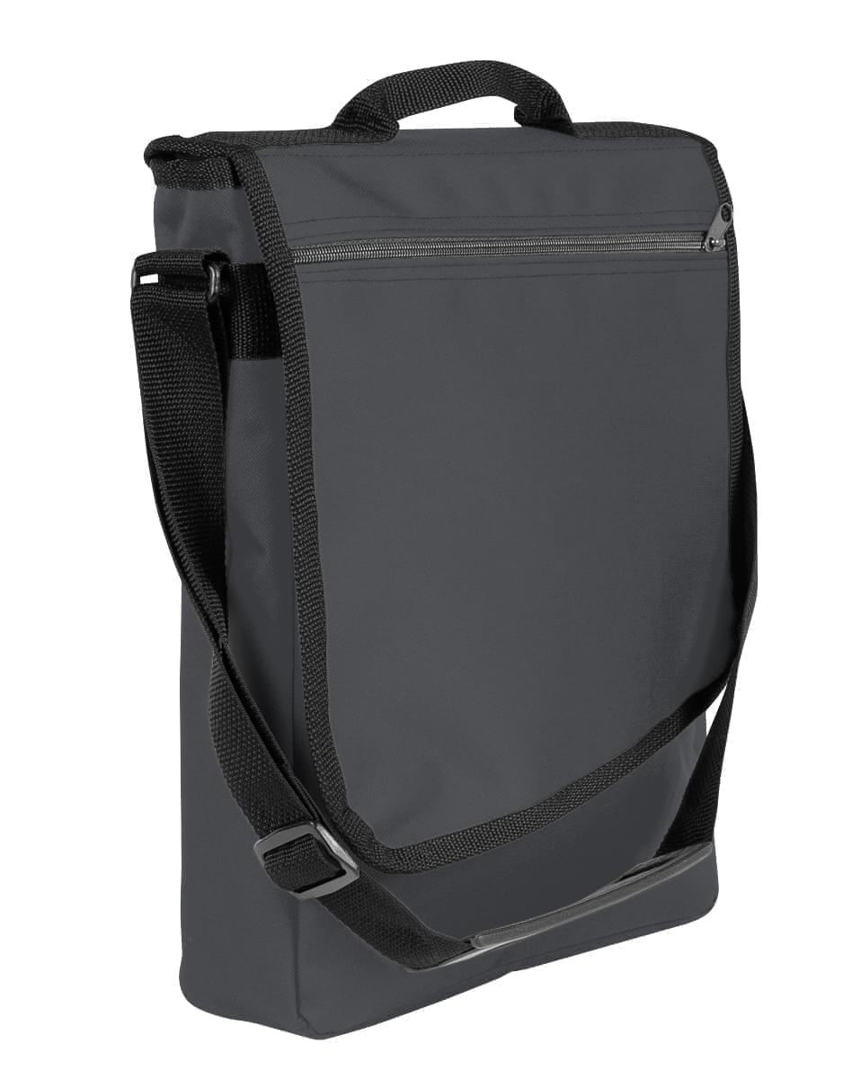 USA Made Nylon Poly Laptop Bags, Graphite-Black, LHCBA29ARR
