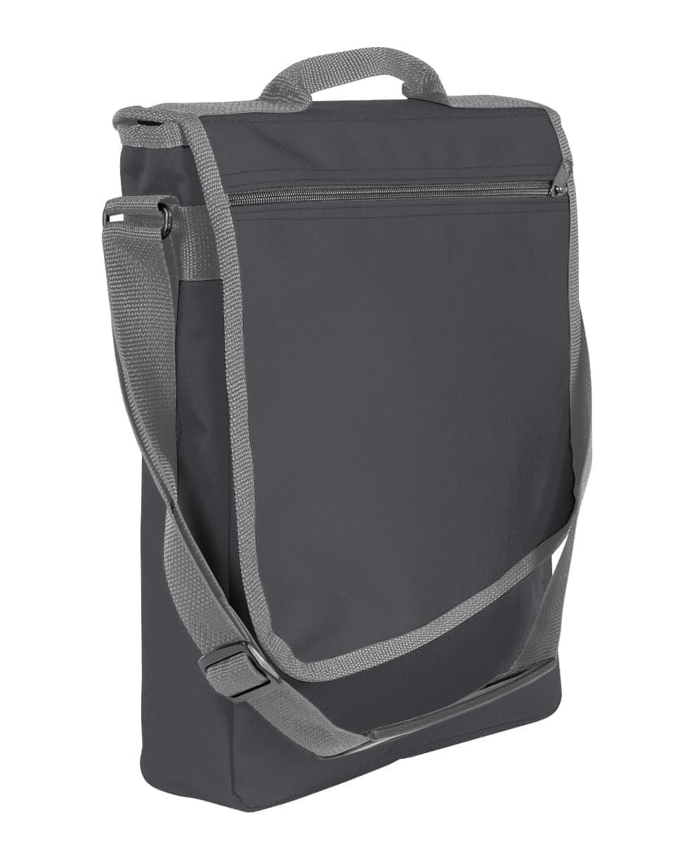 USA Made Nylon Poly Laptop Bags, Graphite-Graphite, LHCBA29ART