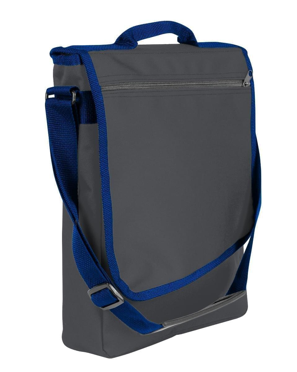 USA Made Nylon Poly Laptop Bags, Graphite-Navy, LHCBA29ARZ