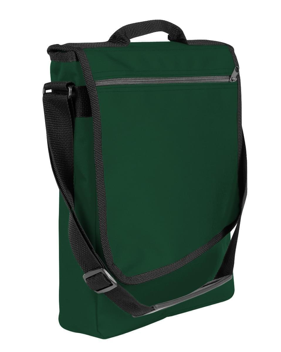 USA Made Nylon Poly Laptop Bags, Hunter Green-Black, LHCBA29ASR