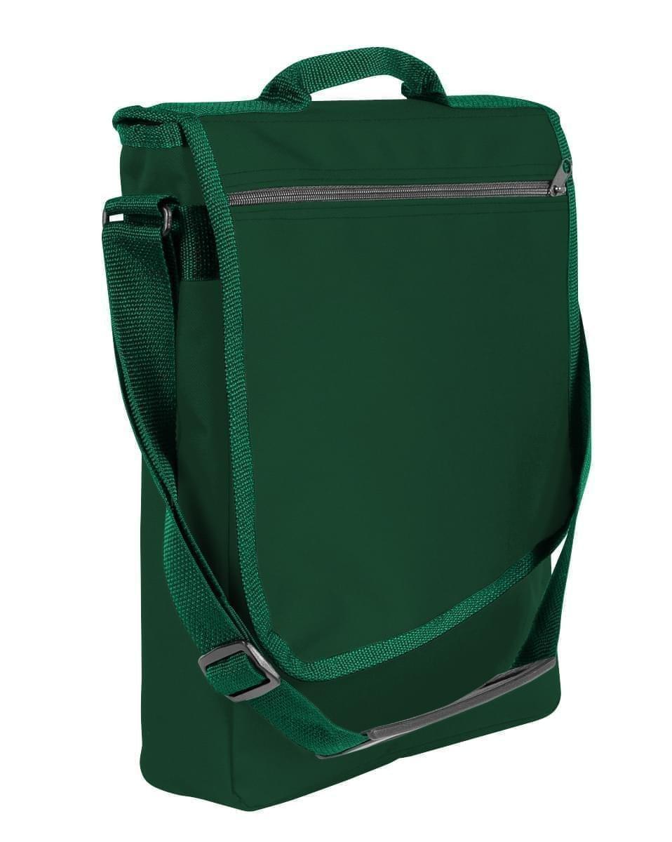 USA Made Nylon Poly Laptop Bags, Hunter Green-Hunter Green, LHCBA29ASV