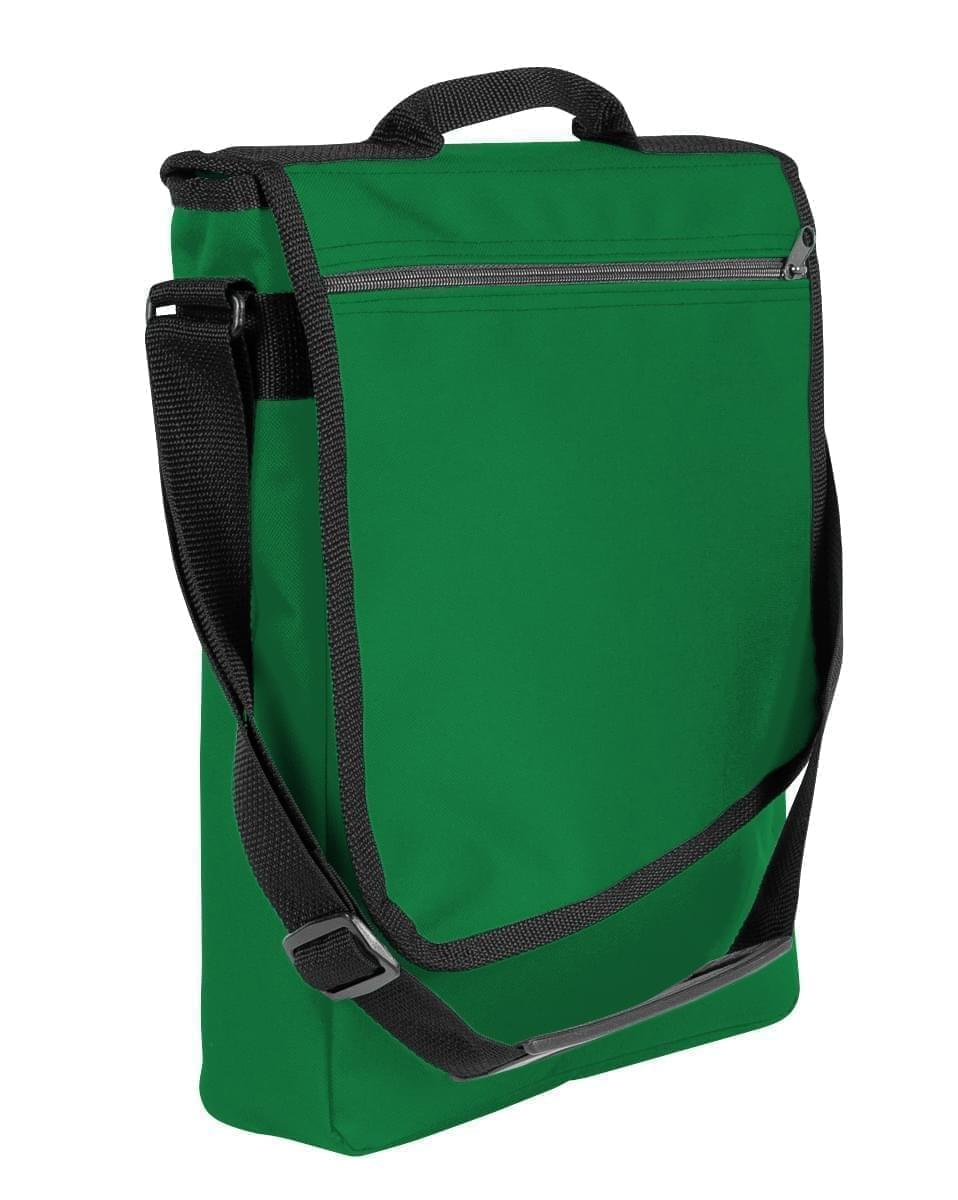 USA Made Nylon Poly Laptop Bags, Kelly Green-Black, LHCBA29ATR