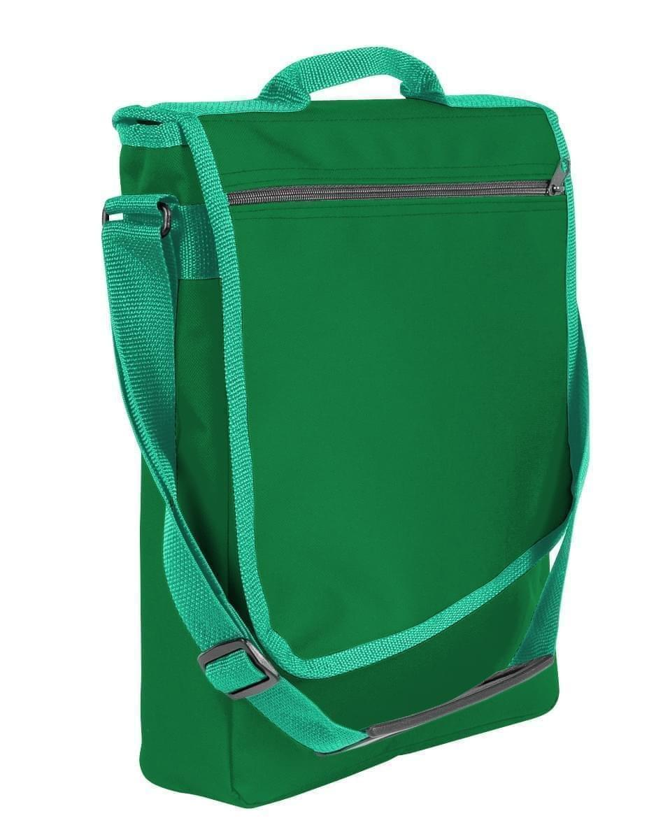 USA Made Nylon Poly Laptop Bags, Kelly Green-Kelly Green, LHCBA29ATW