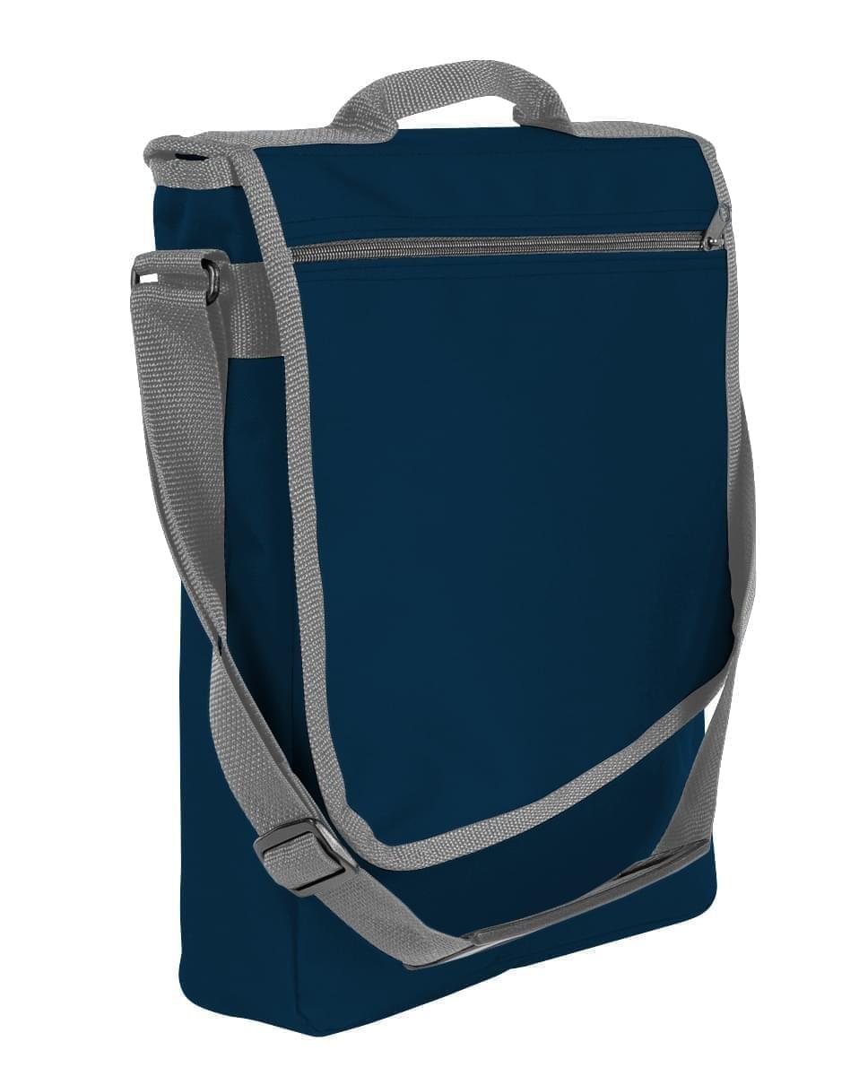 USA Made Nylon Poly Laptop Bags, Navy-Graphite, LHCBA29AWT