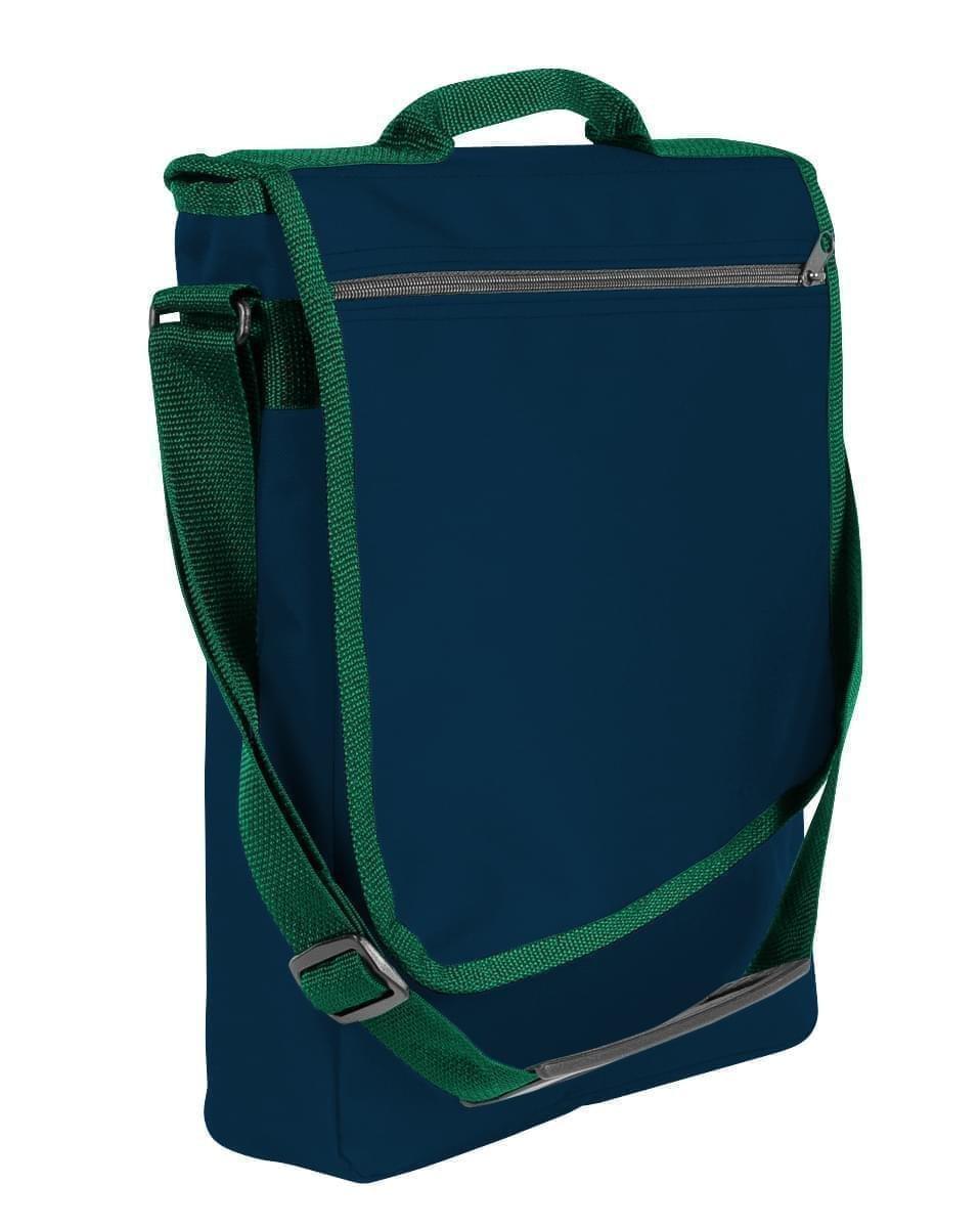 USA Made Nylon Poly Laptop Bags, Navy-Hunter Green, LHCBA29AWV