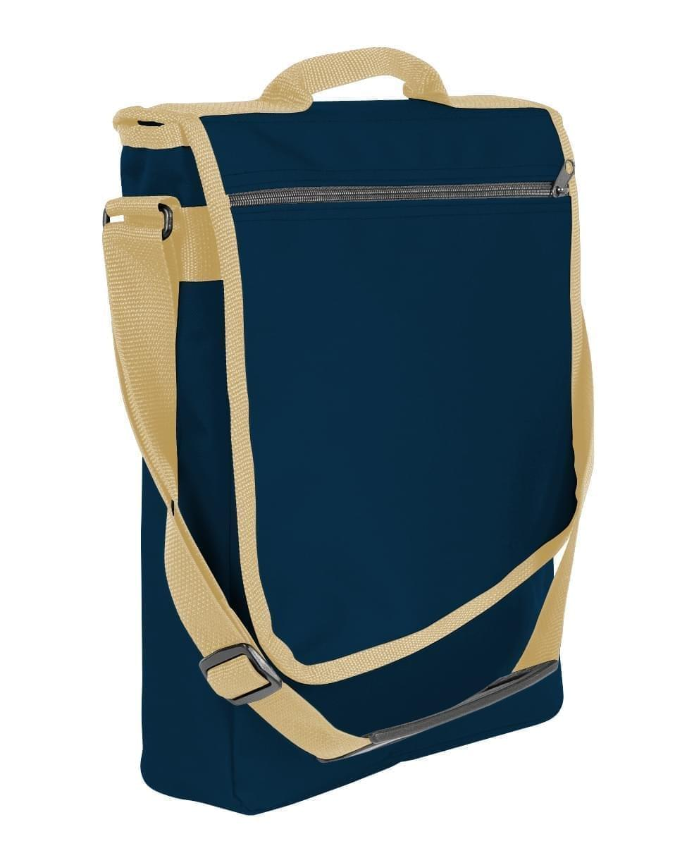 USA Made Nylon Poly Laptop Bags, Navy-Khaki, LHCBA29AWX