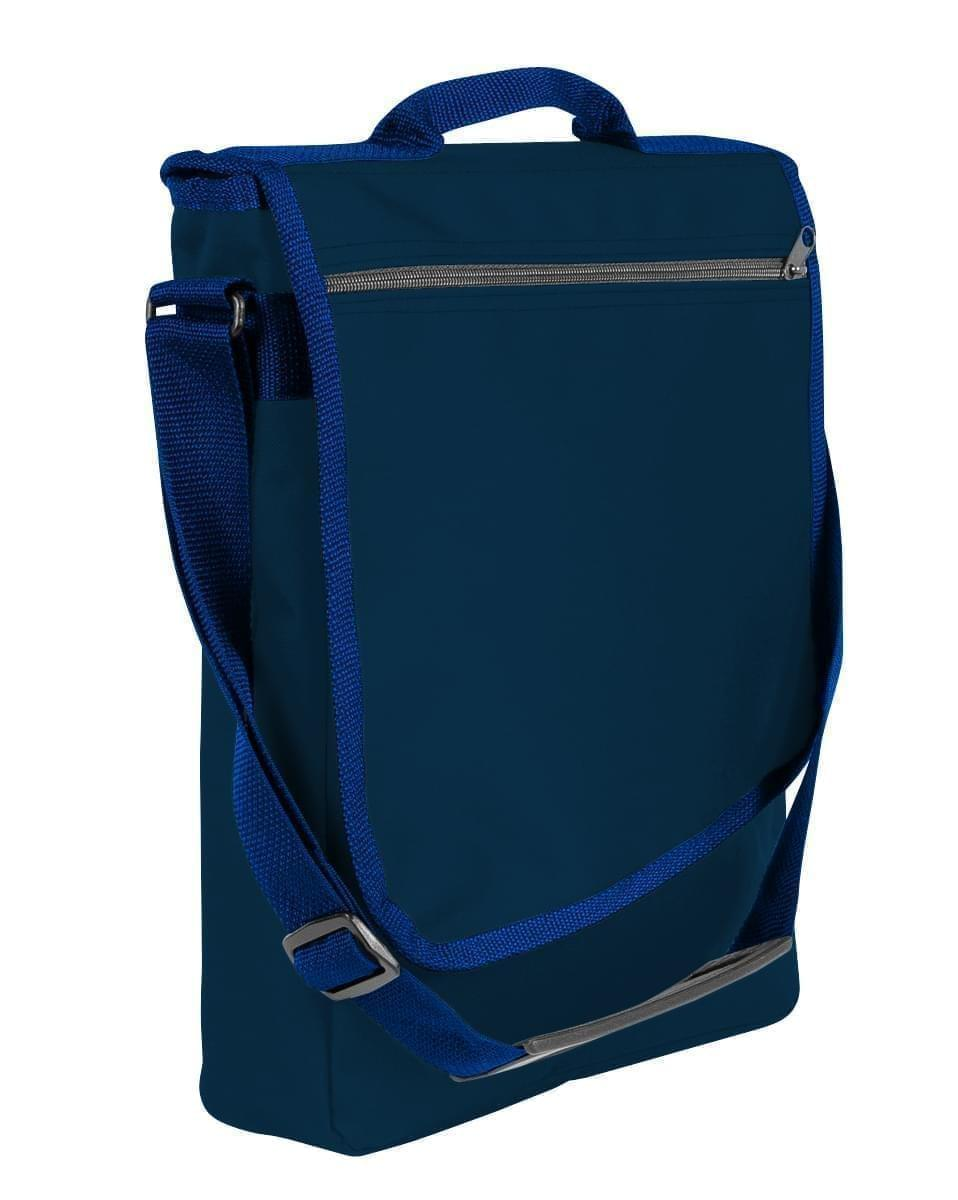 USA Made Nylon Poly Laptop Bags, Navy-Navy, LHCBA29AWZ