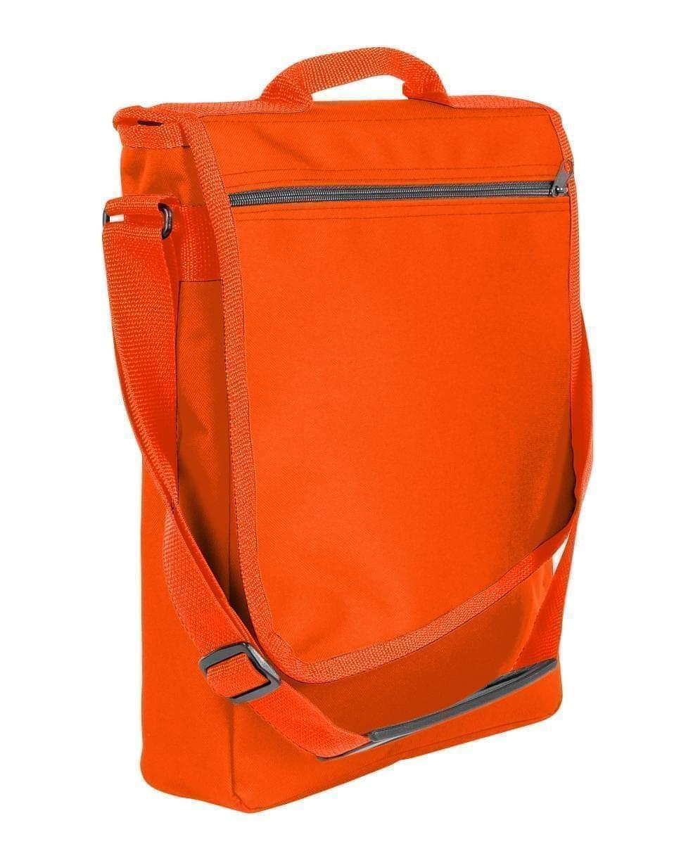USA Made Nylon Poly Laptop Bags, Orange-Orange, LHCBA29AX0