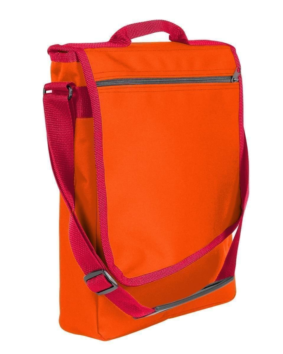 USA Made Nylon Poly Laptop Bags, Orange-Red, LHCBA29AX2