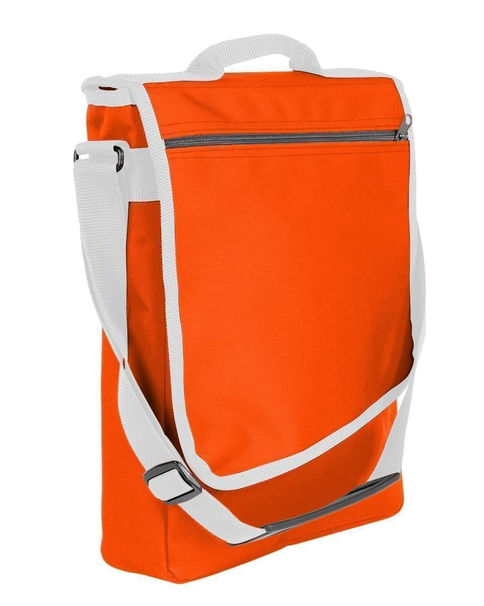 USA Made Nylon Poly Laptop Bags, Orange-White, LHCBA29AX4