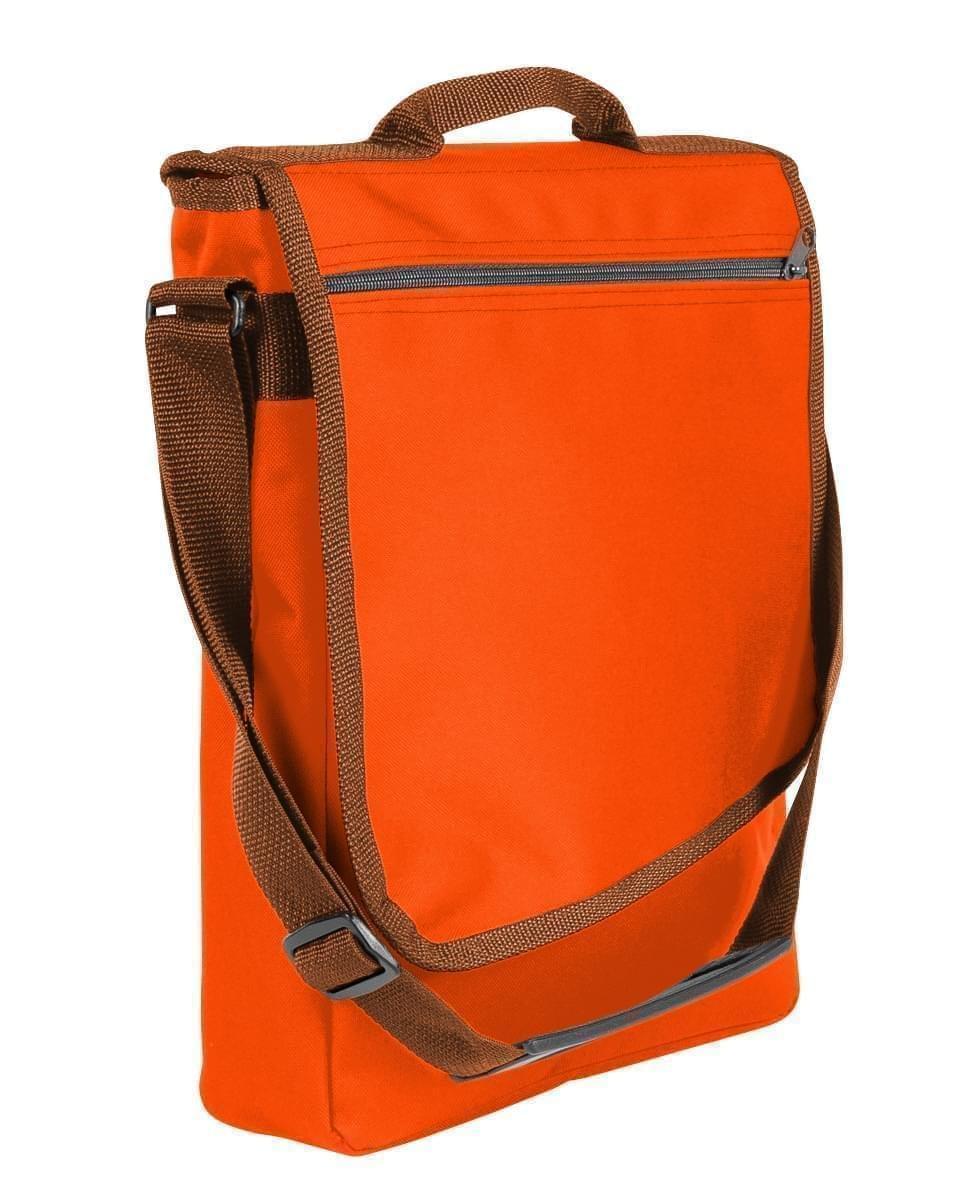 USA Made Nylon Poly Laptop Bags, Orange-Brown, LHCBA29AXS