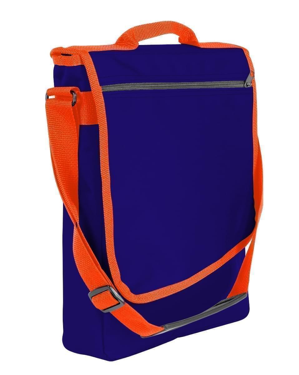 USA Made Nylon Poly Laptop Bags, Purple-Orange, LHCBA29AY0