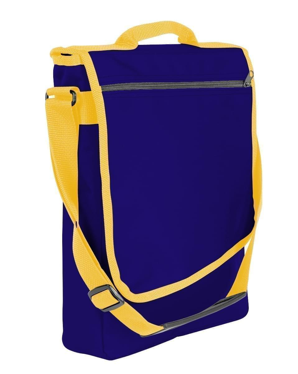 USA Made Nylon Poly Laptop Bags, Purple-Gold, LHCBA29AY5