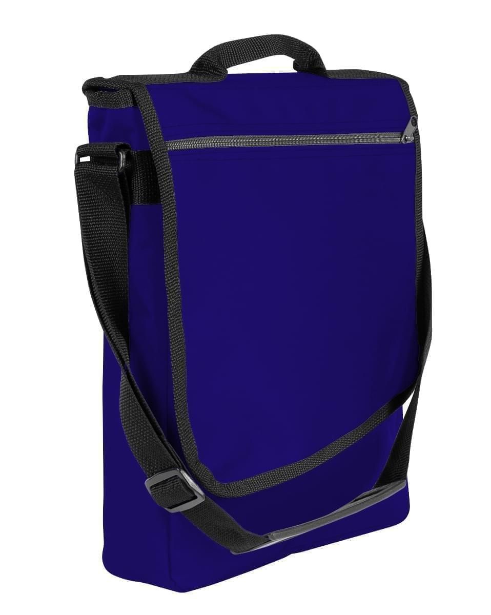 USA Made Nylon Poly Laptop Bags, Purple-Black, LHCBA29AYR