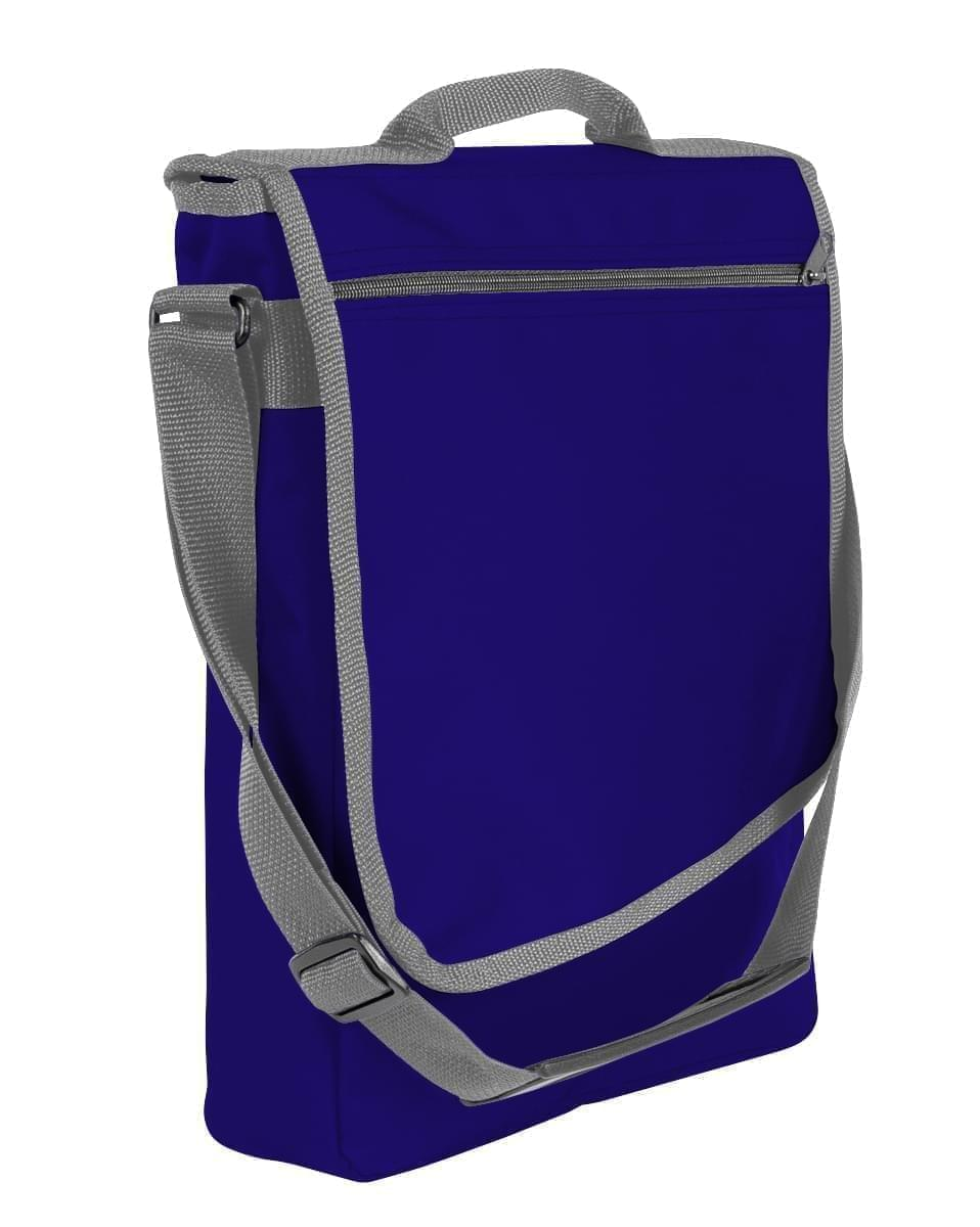 USA Made Nylon Poly Laptop Bags, Purple-Graphite, LHCBA29AYT