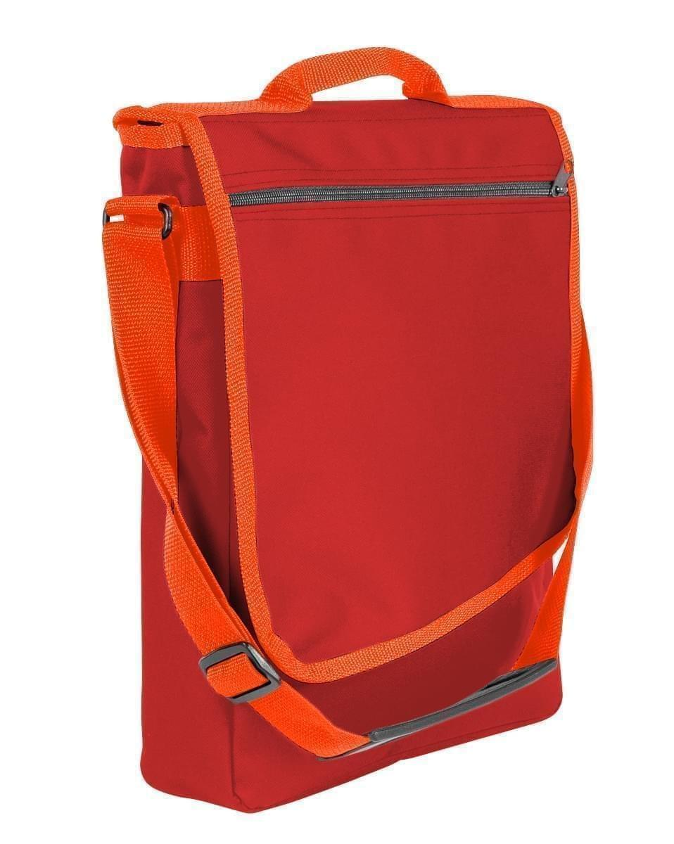 USA Made Nylon Poly Laptop Bags, Red-Orange, LHCBA29AZ0