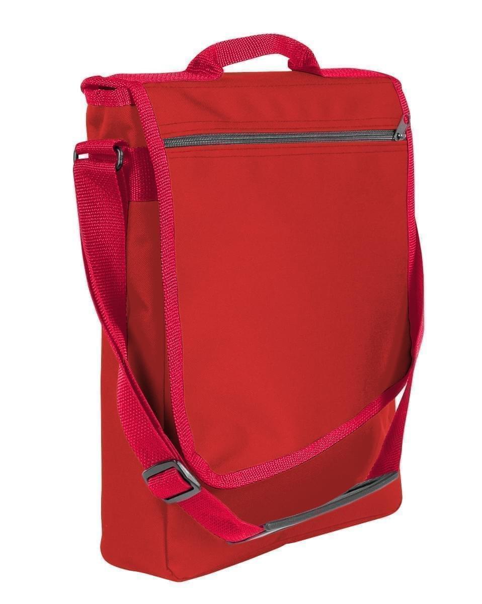USA Made Nylon Poly Laptop Bags, Red-Red, LHCBA29AZ2