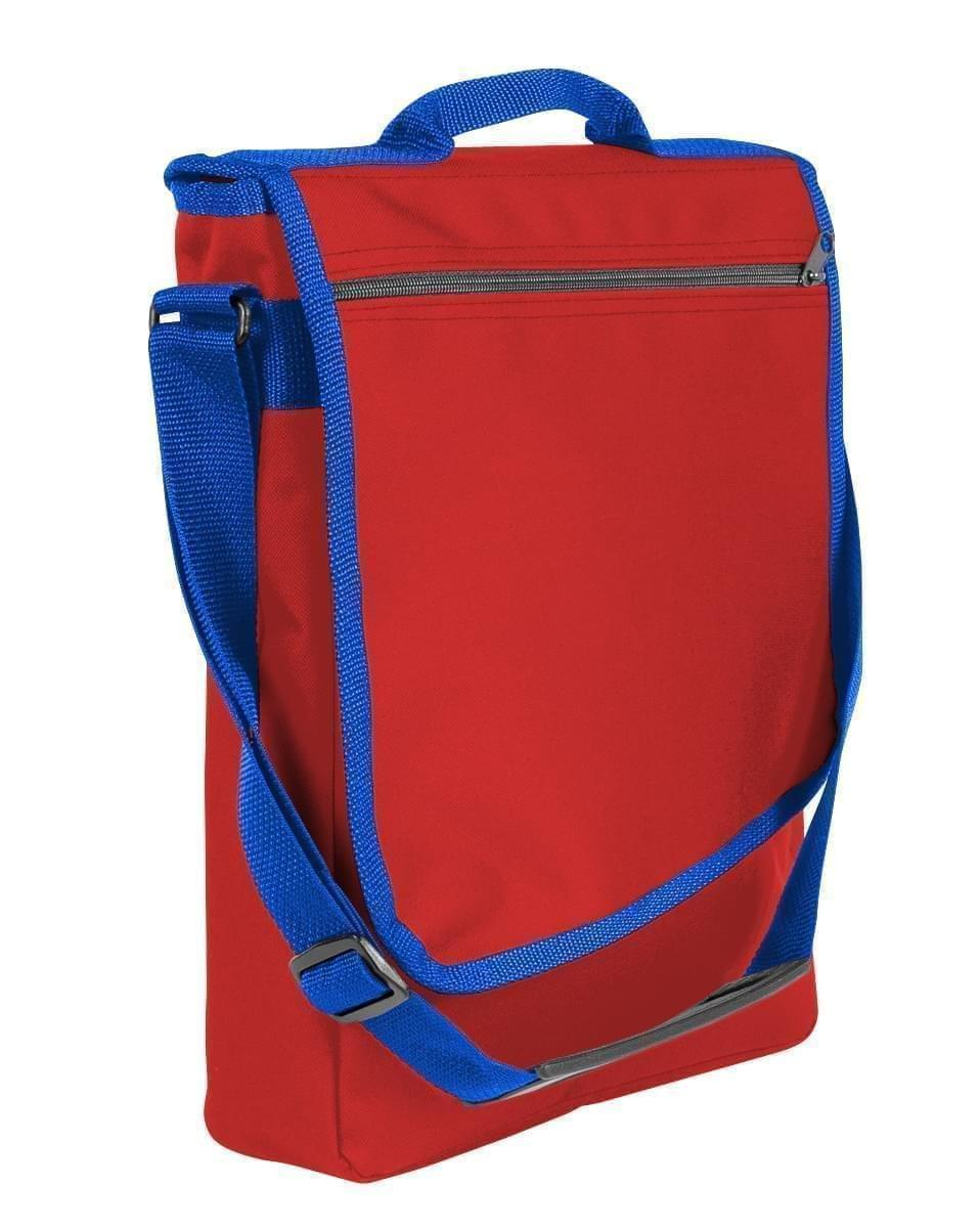 USA Made Nylon Poly Laptop Bags, Red-Royal Blue, LHCBA29AZ3